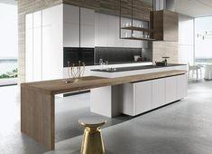 Luxury Kitchen 30 Awesome Black And White Wood Kitchen Design Ideas Best Kitchen Designs, Modern Kitchen Design, Modern House Design, Interior Design Kitchen, Home Design, Design Ideas, Design Inspiration, Room Interior, Contemporary Kitchens