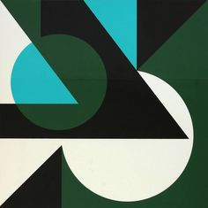 Lars Gunnar Nordstrom, Untitled, oil on paper | Geometry