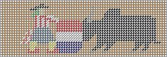 Free Plastic Canvas Needlework Patterns: RODEO TISSUE BOX COVER IN PLASTIC CANVAS