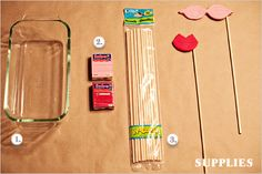 clay, craft, photo booth props, lip, photobooth idea, photo props, photo booths, mustach parti, diy photoboot