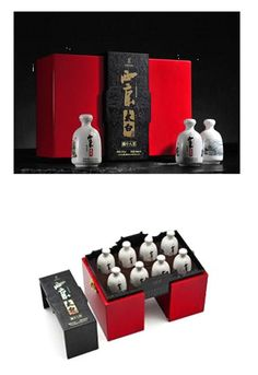 "The gift packaging, originates from the old cities of China and the five characteristics are based on ""famous people, paintings, porcelains, cities and wine"", with the focus on Chinese peculiar elements."