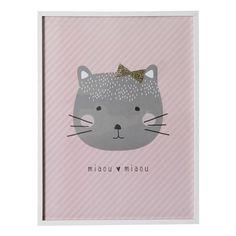 Bilderrahmen Katze weiß/rosa 30x40 cm MINA