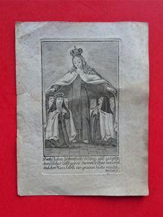 Sakral Andachtsbild Heiligenbild Gebet Madonna Maria Nonnen Gnadenhütte Stich