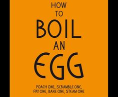 Win a copy! How to Boil an Egg Etc, is a collection of simple and unusual recipes for cooking eggs from Rose Bakery. Click through to enter!