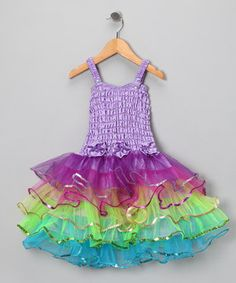 Love this Light Purple Rainbow Lily Dress - Infant, Toddler & Girls by Fairy Dreams on #zulily! #zulilyfinds