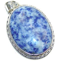 $61.25 Bold++Bali+handcrafted+Blue+Sodalite+Sterling+Silver+Pendant at www.SilverRushStyle.com #pendant #handmade #jewelry #silver #sodalite