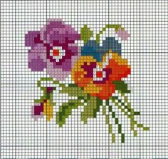 miniature needlework chart Mini Cross Stitch, Cross Stitch Cards, Beaded Cross Stitch, Cross Stitch Borders, Crochet Cross, Cross Stitch Flowers, Cross Stitch Designs, Cross Stitching, Cross Stitch Embroidery