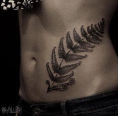 Large fern tattoo by Kichatiy Andrey