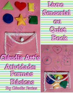 Quiet book, atividade formas básicas e cores