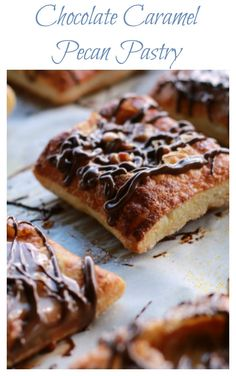 Craving Chocolate and Caramel?  These amazing pastries come together very quickly and really take no time at all.  Add your favorite nuts to the caramel to make them extra special (my favorite is pecans).  I didn't realize how easy pastries were to make, but this recipe has proved me wrong!