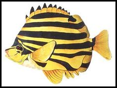 "Yellow Stripe Tropical Fish Metal Wall Hanging - Hand Painted Handcrafted Design - Metal Tropical Fish Wall Art - 11"" x 15"" - Beach home decor - Tropical interior decorating - Tropical decor - Painted metal art - Tropical wall decor - Caribbean decor - Tropical artwork - Tropical artwork - Tropical fish art"