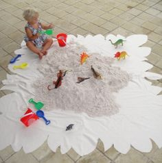 dinosaur birthday party idea - digging for dinos!