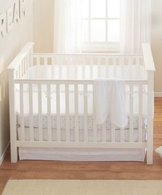 Take a look at this White Mist Breathable® Crib Bumper Set on zulily today!