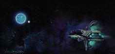 #silvia #dona #space #spaceship #plante #star