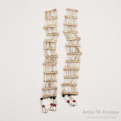 Antique Sioux Dentalium Shell Earrings