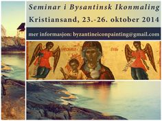 Byzantine Icon painting seminar in Kristiansand, Southern Norway, Kristiansand, Painting Courses, Byzantine Icons, Orthodox Icons, Nail Polish, Movie Posters, Earrings, Norway, Southern