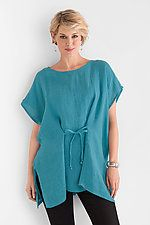 Tie-Front Tunic by Carol Turner (Linen Tunic)