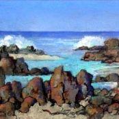 Sold | Theys, Conrad | Seascape Brighton College, South Africa Art, National Art Museum, South African Artists, Art Society, Art Studies, Landscape Art, Art School