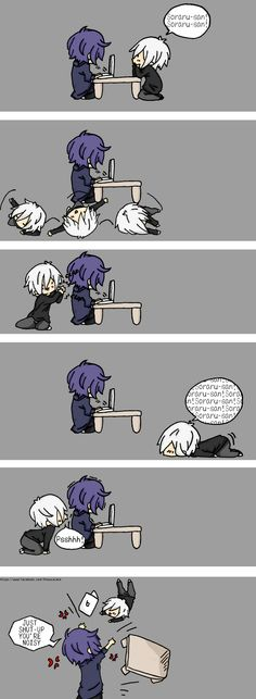 Mafumafu and Soraru. This is just too cute group キリ Vocaloid, Kawaii Chibi, Yandere, Tokyo Ghoul, Anime Couples, Art Pictures, Art Reference, Anime Art, Memes