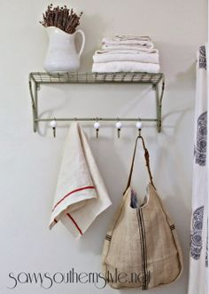 Savvy Southern Style: The Guest Bath Reveal, HomeGoods rack