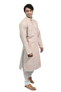 db0f8fe60b Rajwada Men Beige Cotton Kurta Pyjama KP01143F at Rs. 1