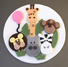 1 x edible icing Jungle Animals theme 7 round cake topper. Perfect for decorating 7 and larger cakes.  Please let me know any additional details