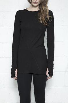 Bias Seam Long Sleeve - Black – Ovate