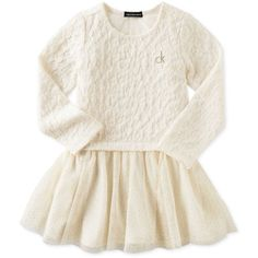 Calvin Klein Jeans Toddler Girls' Lace and Ruffled Dress ❤ liked on Polyvore featuring kids, baby, dresses, baby stuff and kids clothes