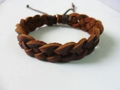 Adjustable Bracelet Cuff made of real  Leather by beautiful365, $3.00