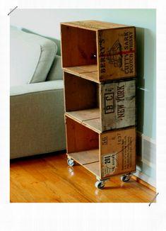 Wood Crate Stroage Bookcase Cheap Man Cave Ideas diy bookcases storage 50 Cheap Man Cave Ideas For Men - Low Budget Interior Design Crate Bookcase, Crate Shelves, Bookshelf Diy, Man Cave Diy, Man Cave Home Bar, Man Cave Shed, Men Cave, Wooden Diy, Wooden Boxes