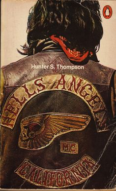 Hells Angels, Hunter S. Thompson ⎜after reading this book watch Gonzo: The Life of Hunter S. Thompson, narrated by Johnny Depp Biker Clubs, Motorcycle Clubs, Motorcycle Decals, Hells Angels, Harley Davidson, Hunter Thompson, By Any Means Necessary, Hunter S, Easy Rider
