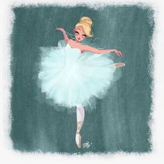 Lovely ballerina art. (Wish I knew who artist was...)