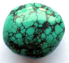 22 Ct Antique Repolished Tibet Turquoise Upcycled by SilverFound, $8.95