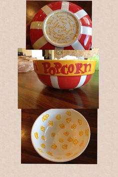 Fingerprint Popcorn bowl came out so cute for the PreK auction project!!