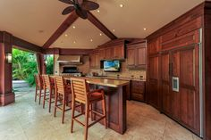 Inviting the tropical outdoors into most living areas, including dining area with wet bar. Pool and grill amenities, and the 1-bedroom cottage surrounded by meticulously landscaped property provides a resort-like feeling. Call Scott Carvill 808.216.0089