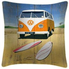 Beach - Martin Wiscombe - Art Print Cushion at welovecushions.co.uk