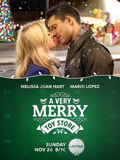 A Very Merry Toy Store Melissa Joan Hart & Mario Lopez play rival toy shop owners who find themselves joining forced for Christmas when a big rival suddenly opens up in town Películas Hallmark, Hallmark Holiday Movies, Great Christmas Movies, Romantic Christmas Movies, Xmas Movies, Hallmark Holidays, Hallmark Channel, Romantic Movies, Watch Movies