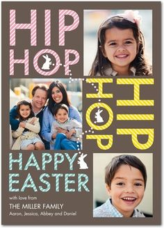 Happily Hopping - Easter Cards in Volcano | Sarah Hawkins Designs