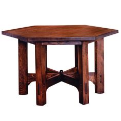 Hexagonal Library Table  The United States of America  about 1912  Gustav Stickley (1858-1942), about 1912