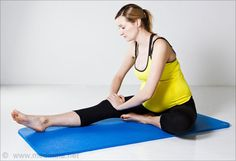 Seated Hamstring Stretch: Stretches hamstrings, relieves sciatica and prevents lower-back pain.