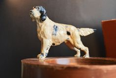 Mens Decor Mens Vanity Vintage Hunting Dog Cast Iron by hastypearl, $46.00