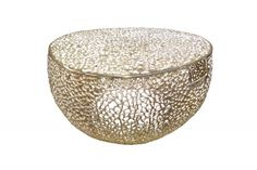 Luxusný konferenčný stolík zlatý 80cm.