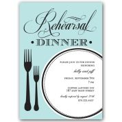 Perfect Plate Rehearsal Dinner Invitations
