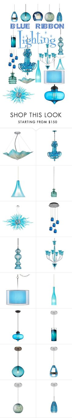 Blue Ribbon Lighting by lampsplus on Polyvore featuring interior, interiors, interior design, home, home decor, interior decorating, Cyan Design, Possini Euro Design, Jamie Young and Besa Lighting