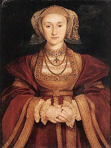 Anna von Kleve 22.9.1515 Düsseldorf - 16.7.1557 London, 4. Ehefrau von Heinrich VIII und erste Deutsche auf dem englischen Thron. Die 1540 geschlossene Ehe wurde nicht vollzogen und nach einem halben Jahr für ungültig erklärt.Sie bleib in England und starb an Krebs.