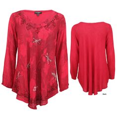 Scarlet Dragonfly Long Sleeve Tunic at The Animal Rescue Site