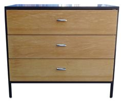 Mid-Century Modern George Nelson Steel Frame Dresser | From a unique collection of antique and modern dressers at https://www.1stdibs.com/furniture/storage-case-pieces/dressers/