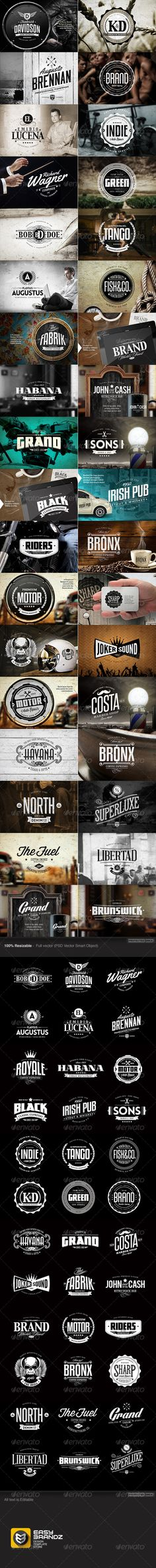 36 Badges & Logos Bundle Template | Buy and Download: http://graphicriver.net/item/36-badges-logos-bundle/7563503?WT.ac=category_thumb&WT.z_author=Easybrandz2&ref=ksioks