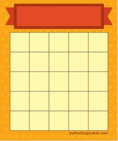 Myfreebingocards Com Free Printable And Virtual 5x5 Bingo Templates Bingo Template Bingo Card Template Bingo Cards