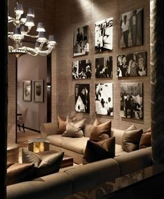 tall focal wall arrangement great room - Google Search